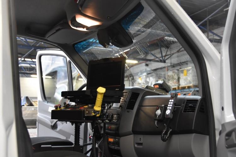 intérieur de la camionnette « Z backscatter »