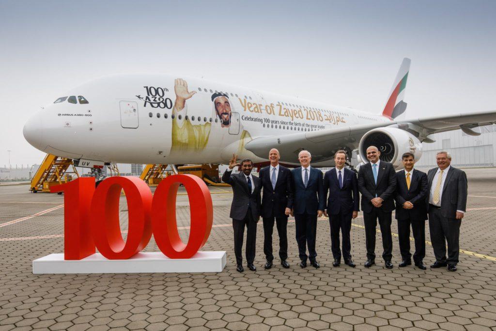 100e A380 Emirates
