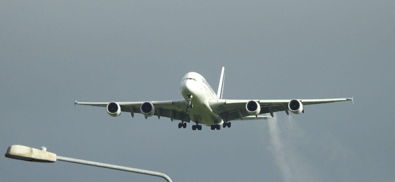 l'A380 F-HPJI en approche finale à Shannon