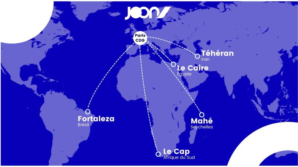 Nouvelles destinations long-courrier Joon