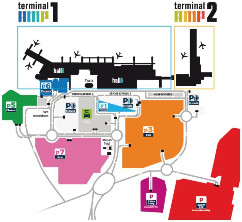 plan de la zone aéroportuaire