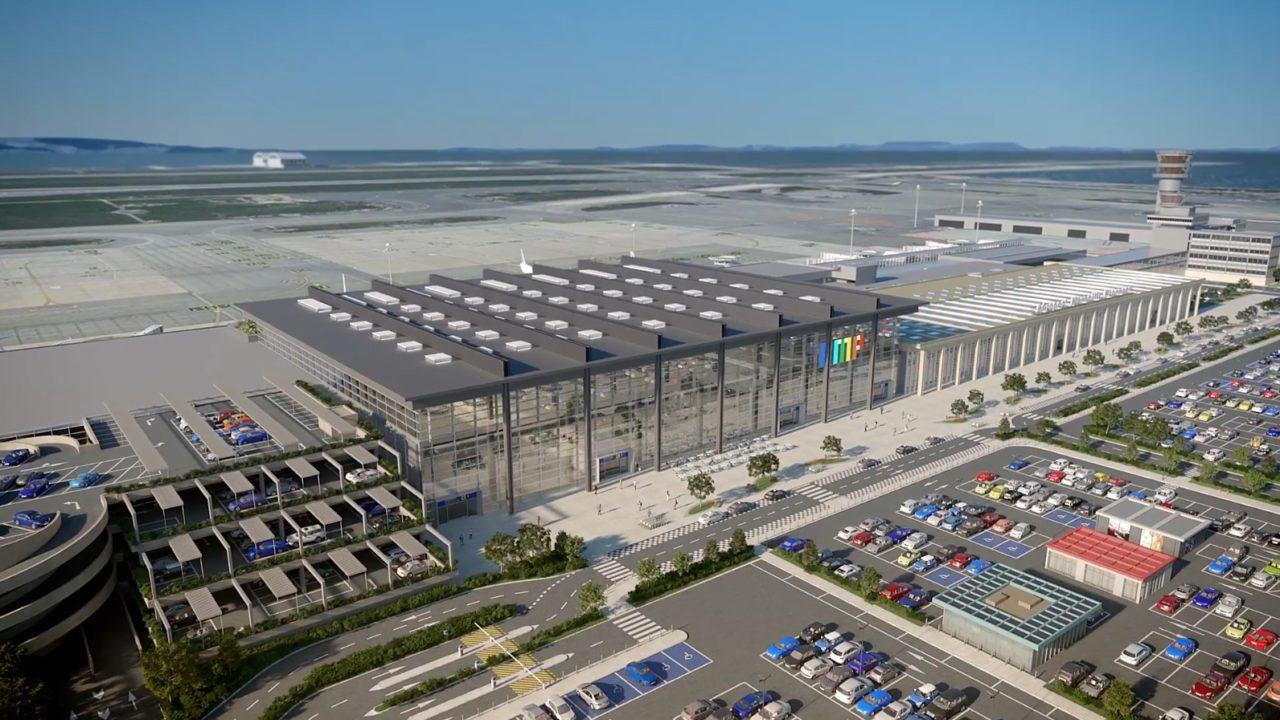 Vue 3D du futur aéroport de Marseille Provence