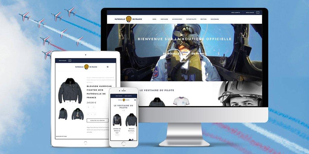 La boutique en ligne de la patrouille de France