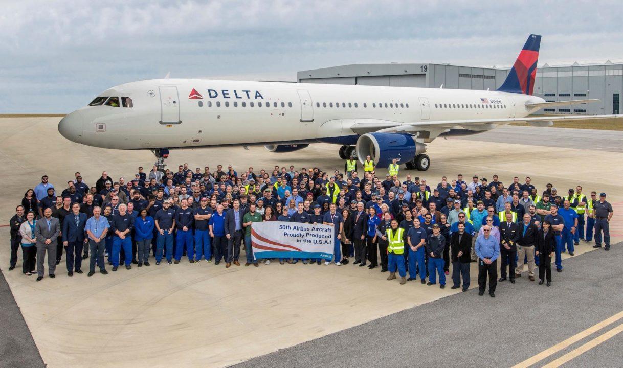 50e avion de la ligne d'assemblage finale de Mobile, Alabama