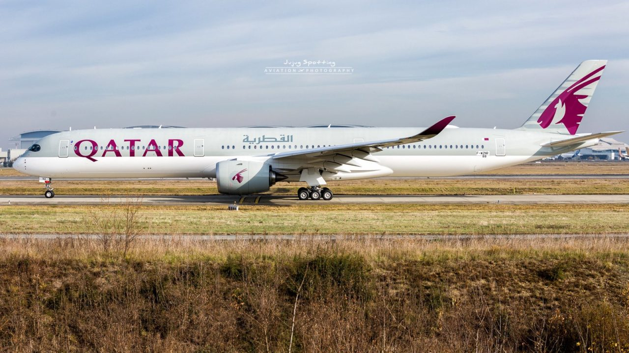 1st Airbus A350-1000 Qatar Airways A7-ANA