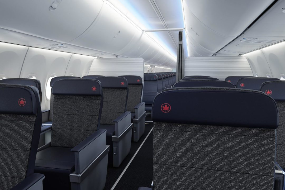 Classe affaires du 737 MAX d'Air Canada