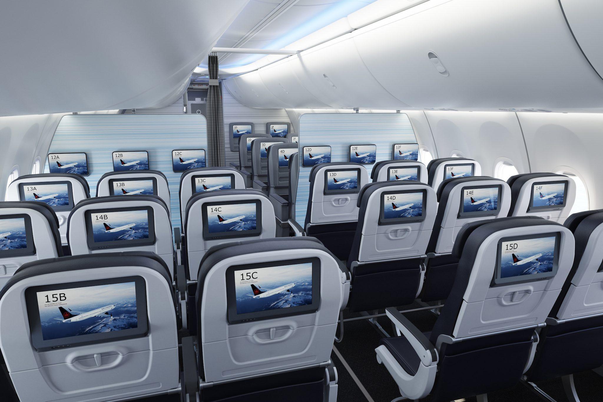 Système de divertissements à bord du 737 MAX de Boeing d'Air Canada
