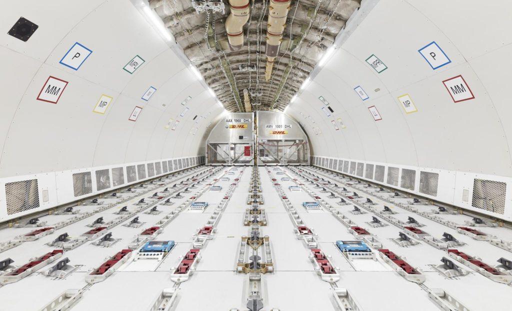 intérieur de l'A330-300P2F DHL Express