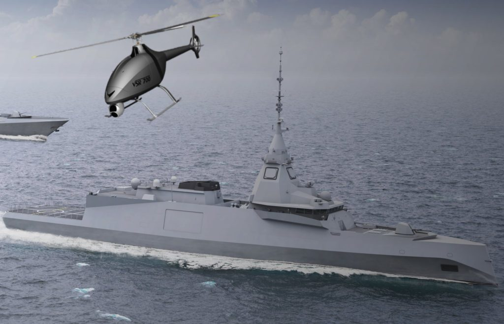 VRS700 sera déployé à partir de bâtiment de projection et de commandement [BPC] de classe Mistral et des frégates de la marine