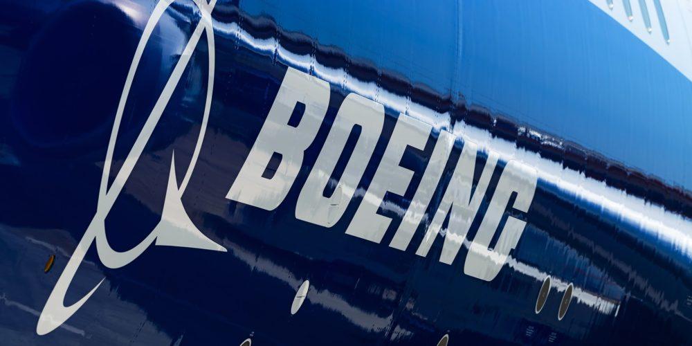 Le logo Boeing sur un B737 MAX 8