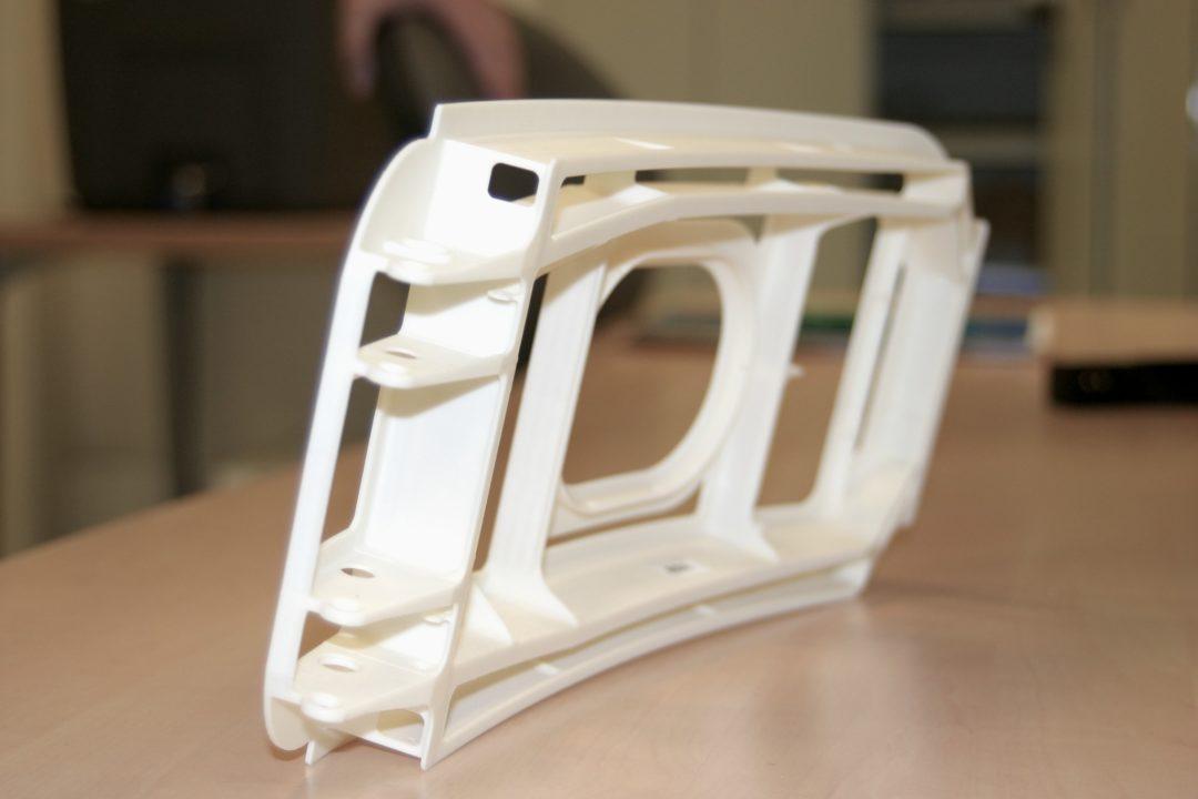 prototype imprimé en 3D d'intérieur de porte d'avion