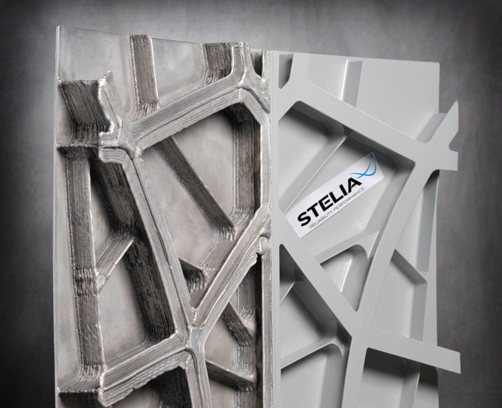 panneaux de fuselage métalliques auto-raidis réalisés en impression 3D