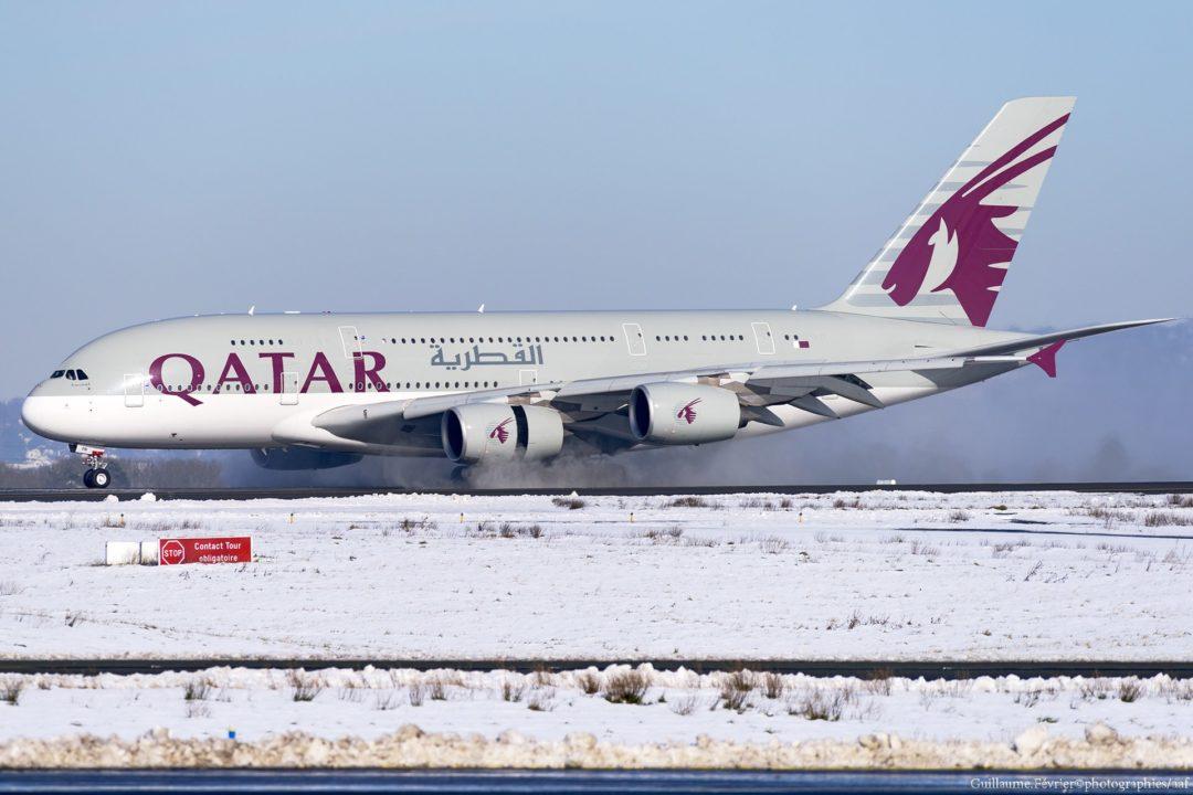 Airbus A380 Qatar à Paris CDG