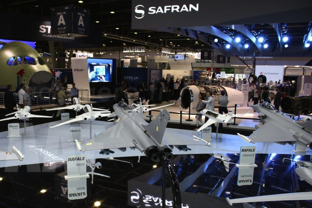 Stand Dassault Aviation au SIA Paris Le Bourget 2017