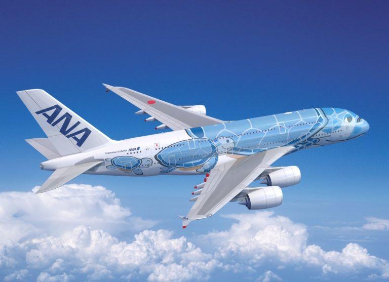 """A380 ANA livrée """"Honu"""""""