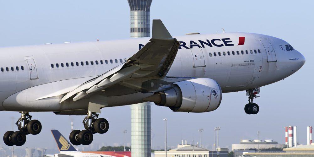 Atterrissage à Paris CDG d'un A330 Air France
