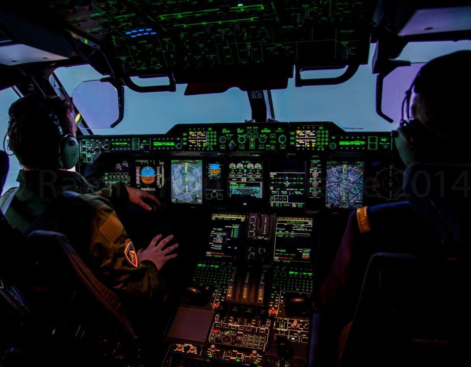 En vol abord du 2eme A400M de l'armée de l'Air direction Villacoublay après livraison à Toulouse- Blagnac