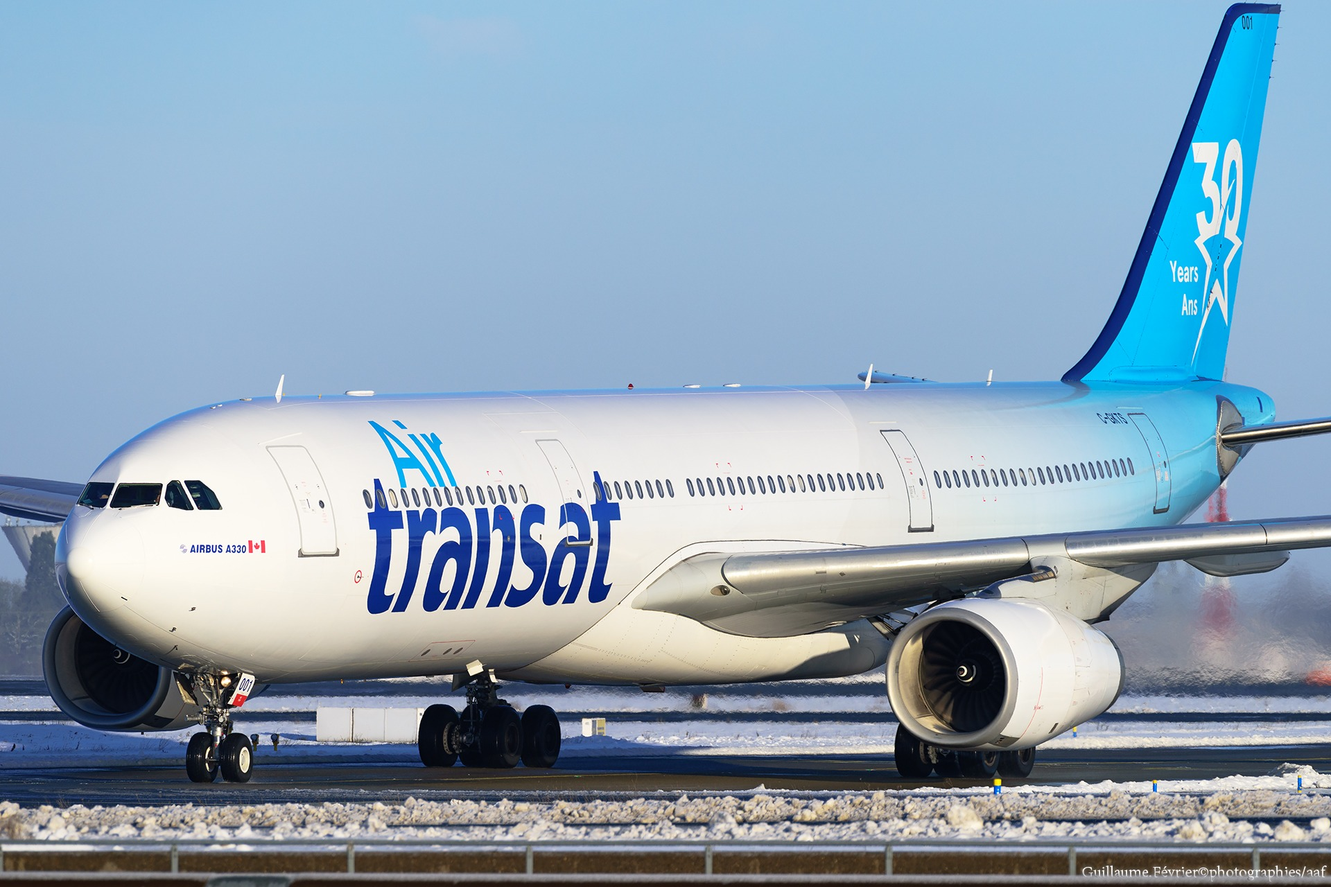 "Airbus A330-300 Air Transat ""30th Anniversary Livery "" C-GKTS"
