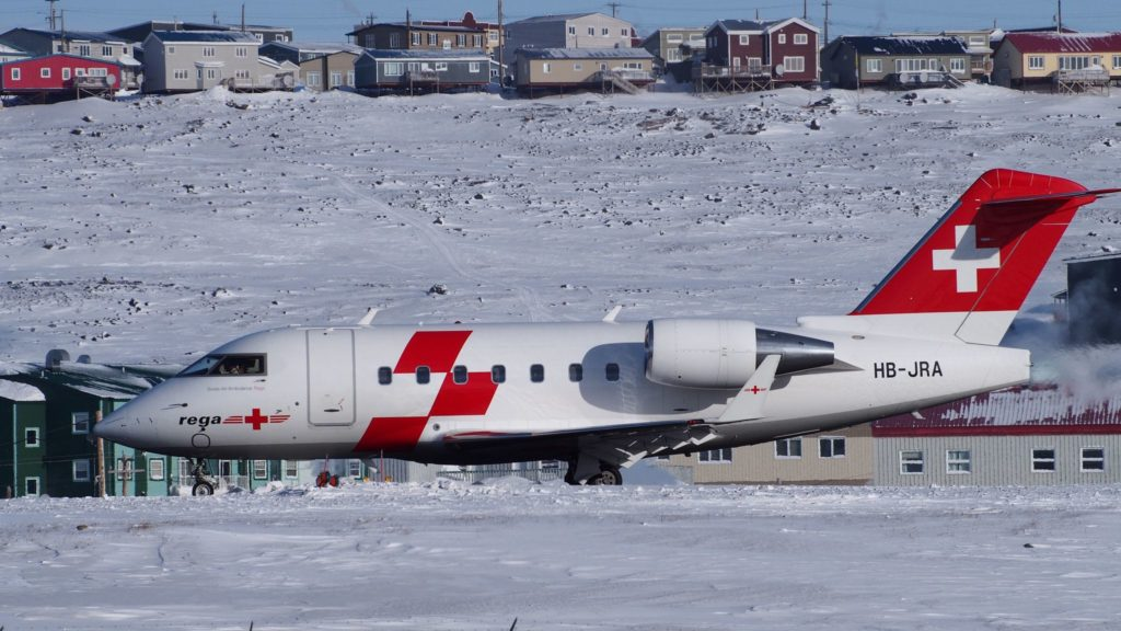 Canadair Challenger 600 - Bombardier HB-JRA rega - Swiss Air Ambulance