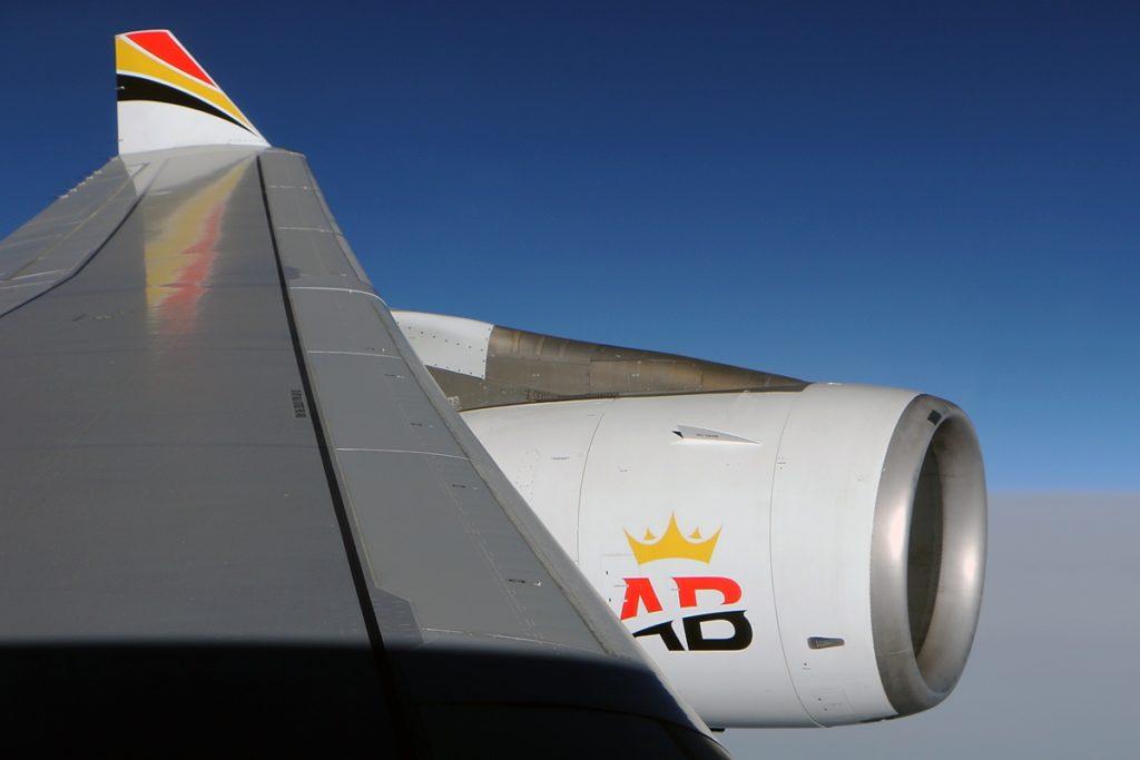 Aile de l'A340 Air Belgium