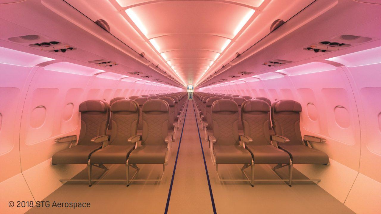 Éclairage LED d'une cabine A320 en retrofit