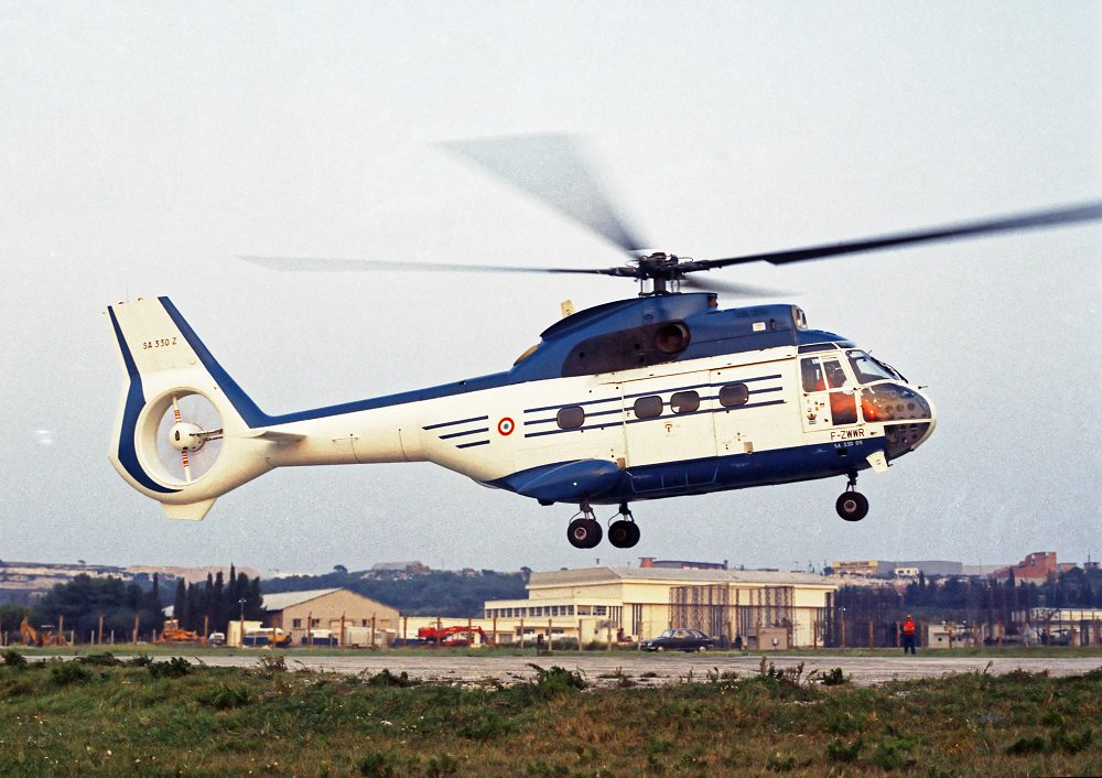 Un gros fenestron sur le SA330 Puma Sud-Aviation