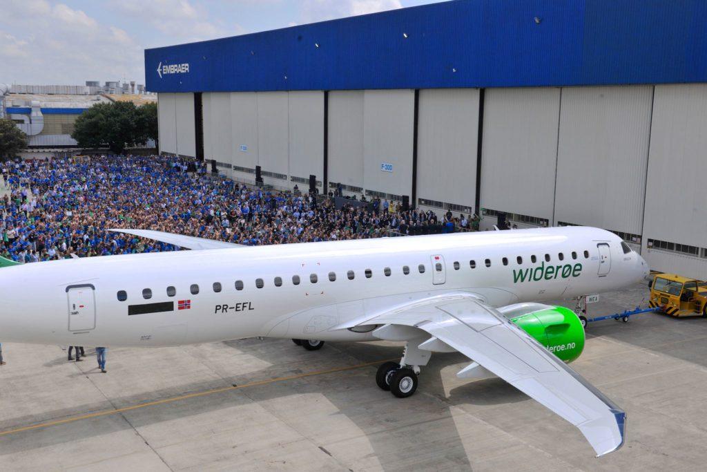 Le 1er jet E2 de la compagnie norvégienne Widerøe