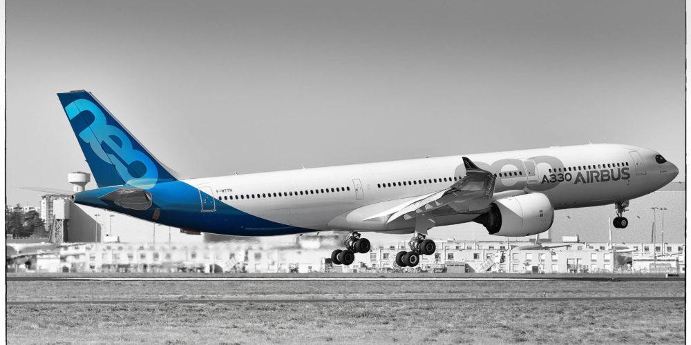 Ci-après, l'airbus A330-941 NEO F-WTTN qui poursuit ses vols tests sur la plateforme de Blagnac.