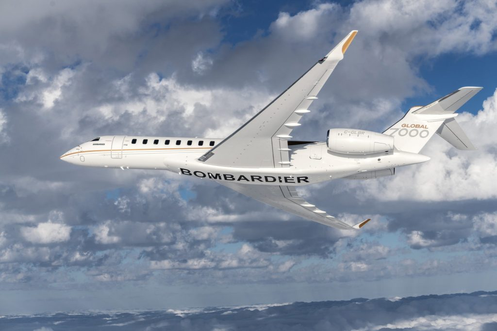 Le futur avion d'affaires Bombardier Global 7000