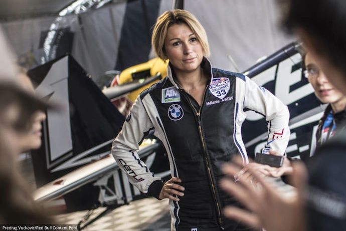 Melanie Astles, pilote française