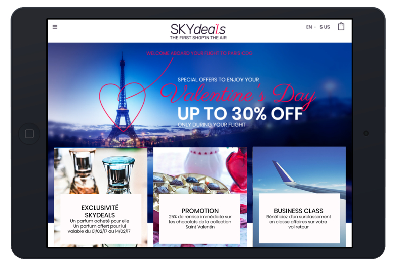 Solution d'inflight « Shoppertainment »