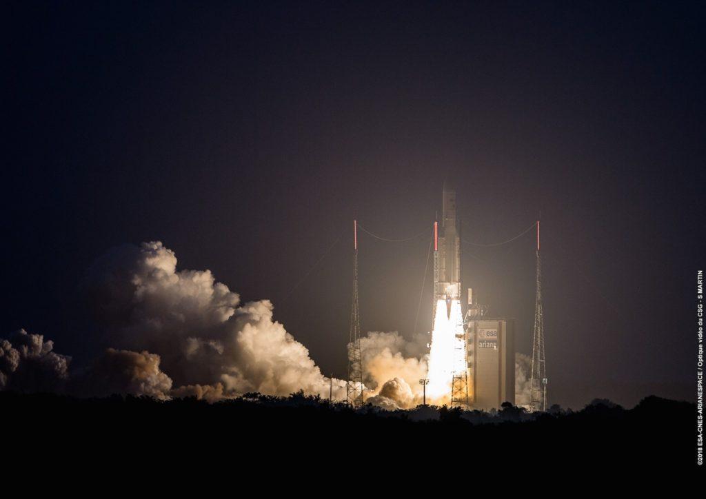Décollage d'Ariane 5depuis Toucan, le 05/04/2018.