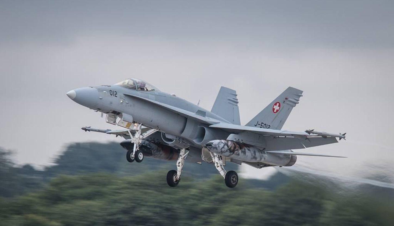 Chasseur F18 Hornet des forces aériennes Suisse (FAS)