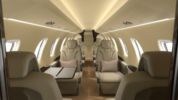 cabine du PC24 Jetfly signé Stack