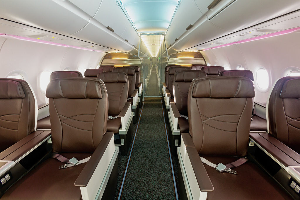 Cabine Business A321neo Hawaiian Airlines