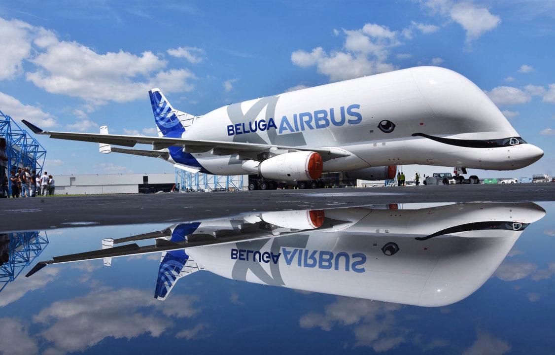 Le 1er Airbus Beluga XL avec sa livrée et son sourire de béluga.