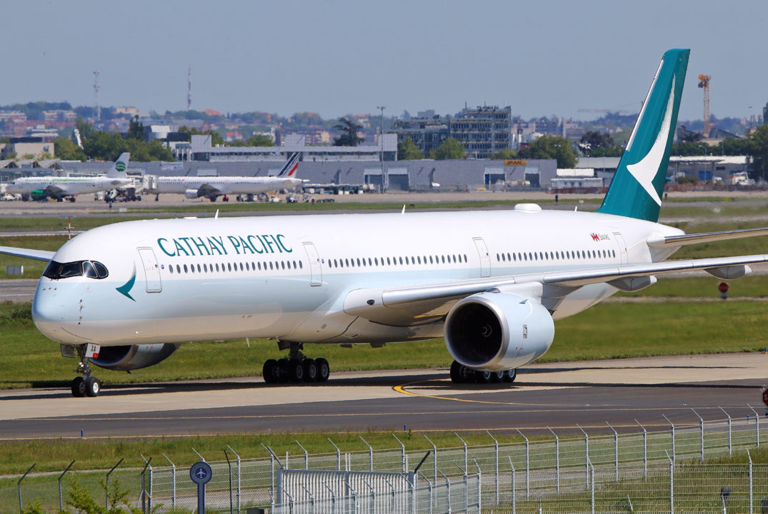 F-WZGV First Airbus A350-1000 Cathay Pacific