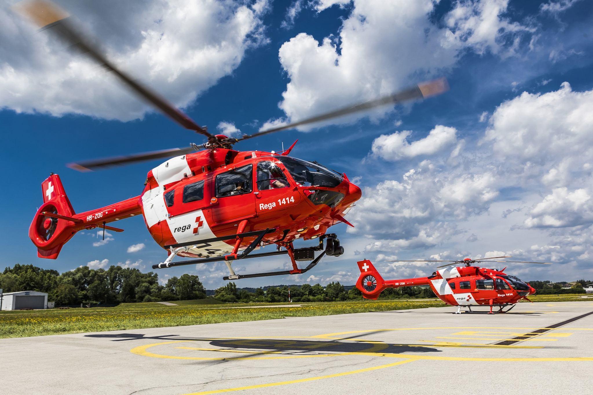 hélicoptère H145 de la Rega, la Garde aérienne suisse de sauvetage