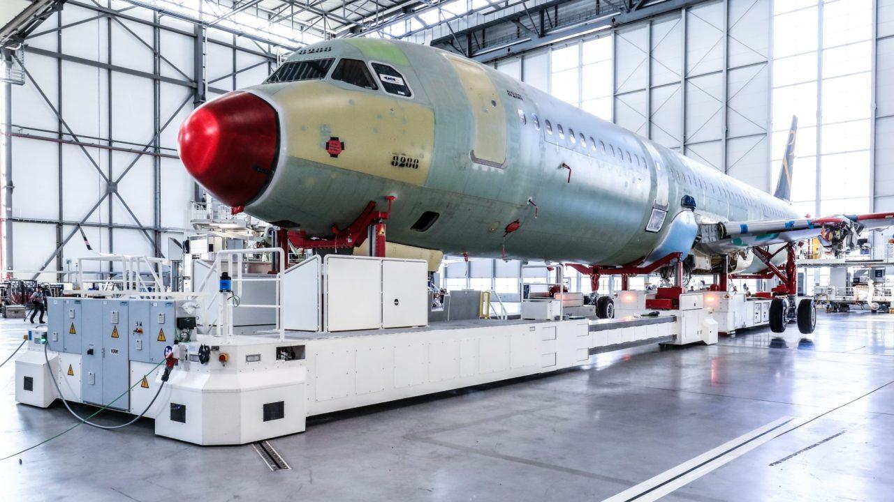 nouvelle ligne de production d'A320 d'Hambourg