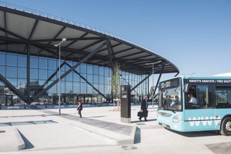 Nouveau Terminal 1 de l'aéroport de Lyon pour les départs