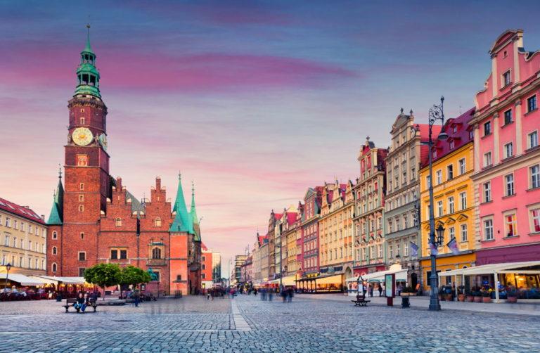 Ville de Wroclaw, en Pologne