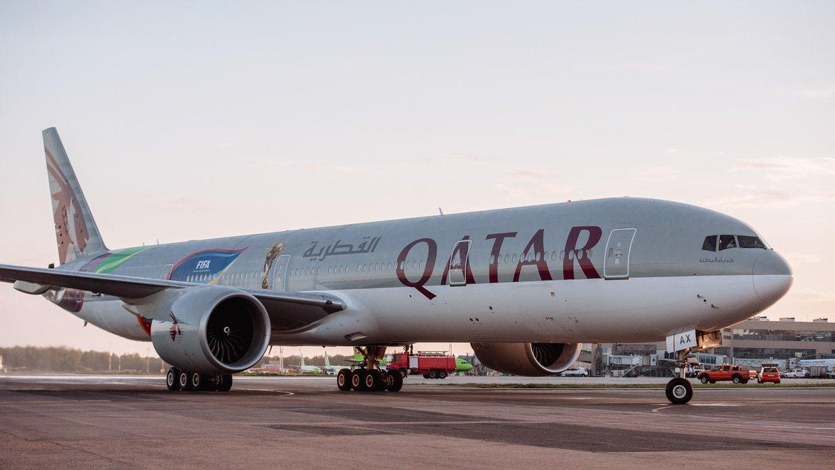 Boeing 777-3DZ(ER) / A7-BAX livrée spéciale Coupe du Monde 2018