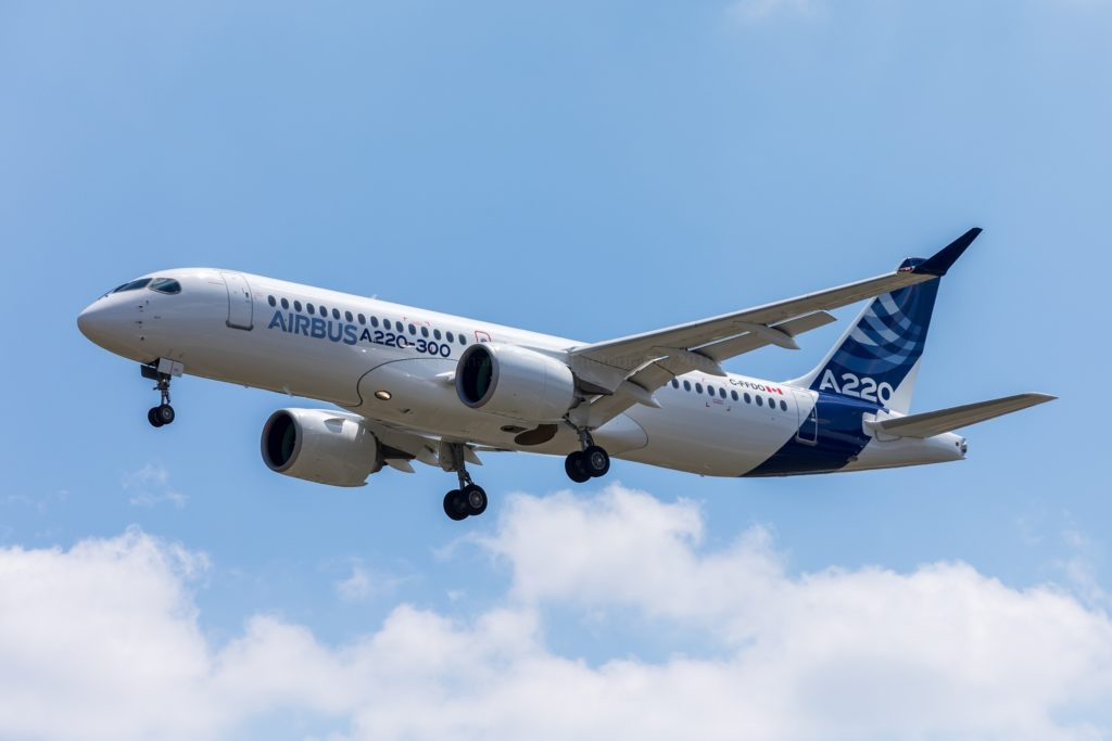 1ère photo de l'A220 Airbus à Toulouse