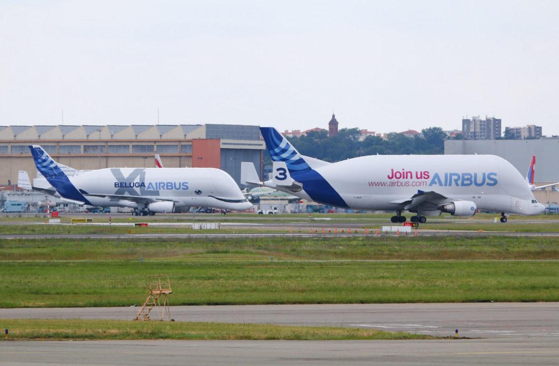 1er BelugaXL d'Airbus F-WBXL