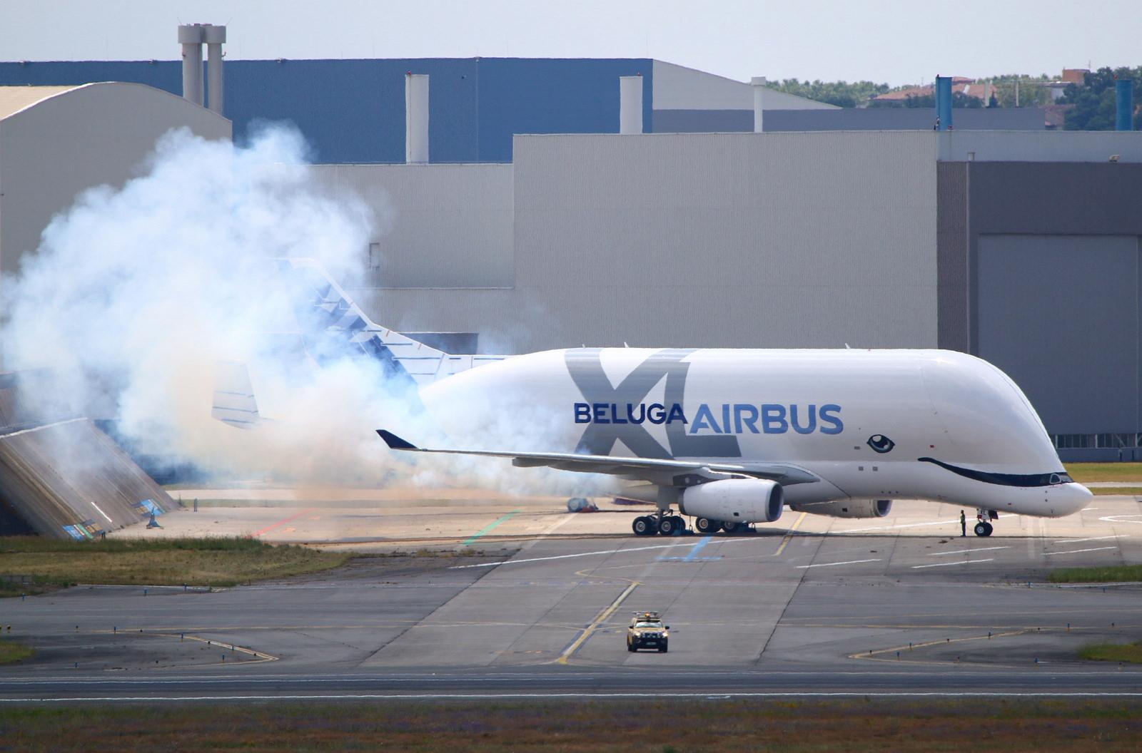 Engine Run du 1er BelugaXL d'Airbus F-WBXL
