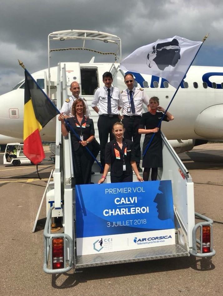 Air Corsica inaugure la ligne entre Bruxelles-Charleroi et Calvi