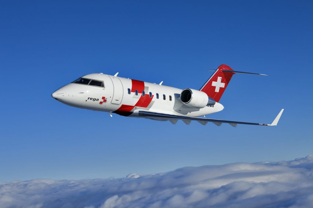 Swiss Air-Rescue Rega Bombardier Challenger 650