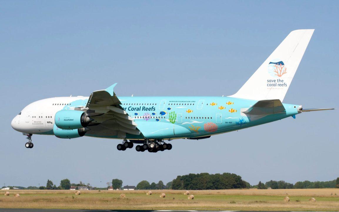 A380 HiFly Malta / 9H-MIP en entrainement à Châteauroux