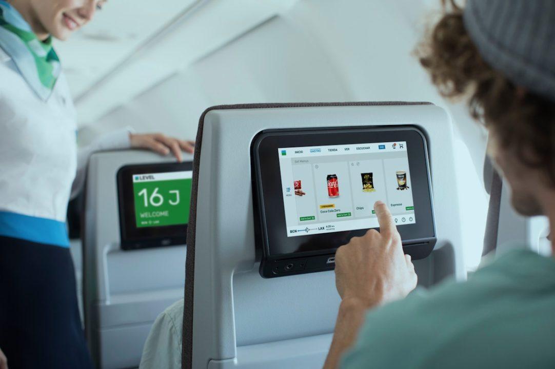 IFE siège Premium Eco à bord des A330 Level