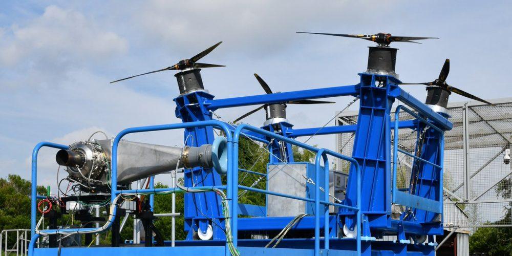 Banc de tests du système de propulsion distribuée hybride électrique